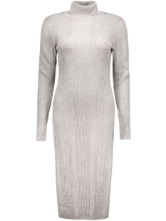 vmnimbo ls rollneck slit dress 10157963 vero moda jurk light grey melange