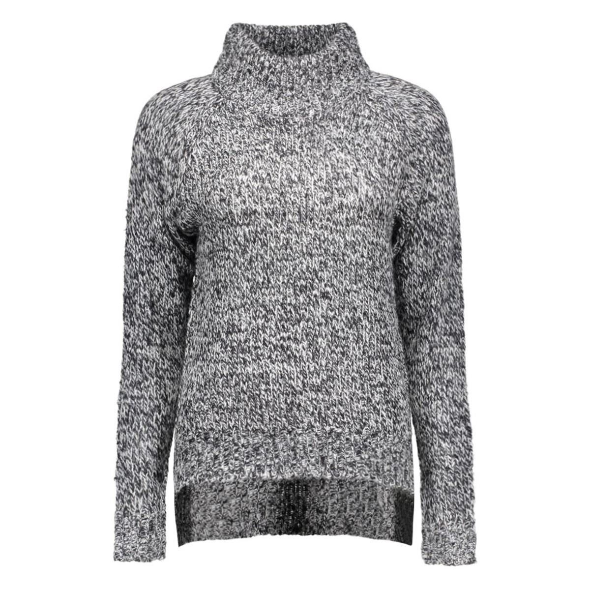 vmcamille ls funnelneck blouse dnm 10159274 vero moda trui black/snow white