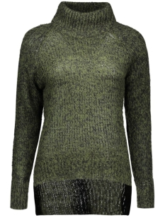 vmcamille ls funnelneck blouse dnm 10159274 vero moda trui kombu green/black