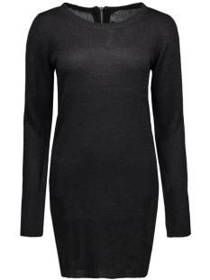 onlnew hayley l/s zipper dress knt 15122432 only jurk black