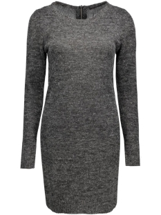 onlnew hayley l/s zipper dress knt 15122432 only jurk dark grey melange
