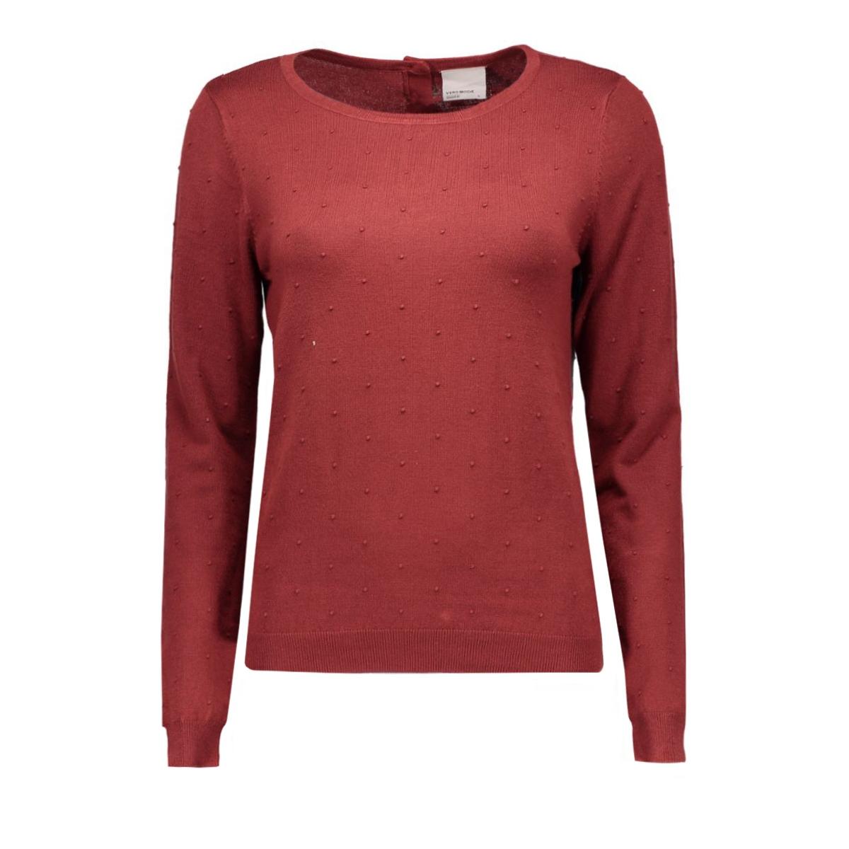 vmglory misa ls blouse a rep 10166740 vero moda trui fired brick