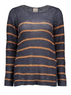 vmsarah ls blouse boo 10156498 vero moda trui navy blazer/adobe