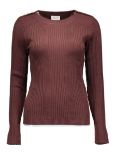vmnimbo ls button blouse dnm a 10159733 vero moda trui decadent chocolat