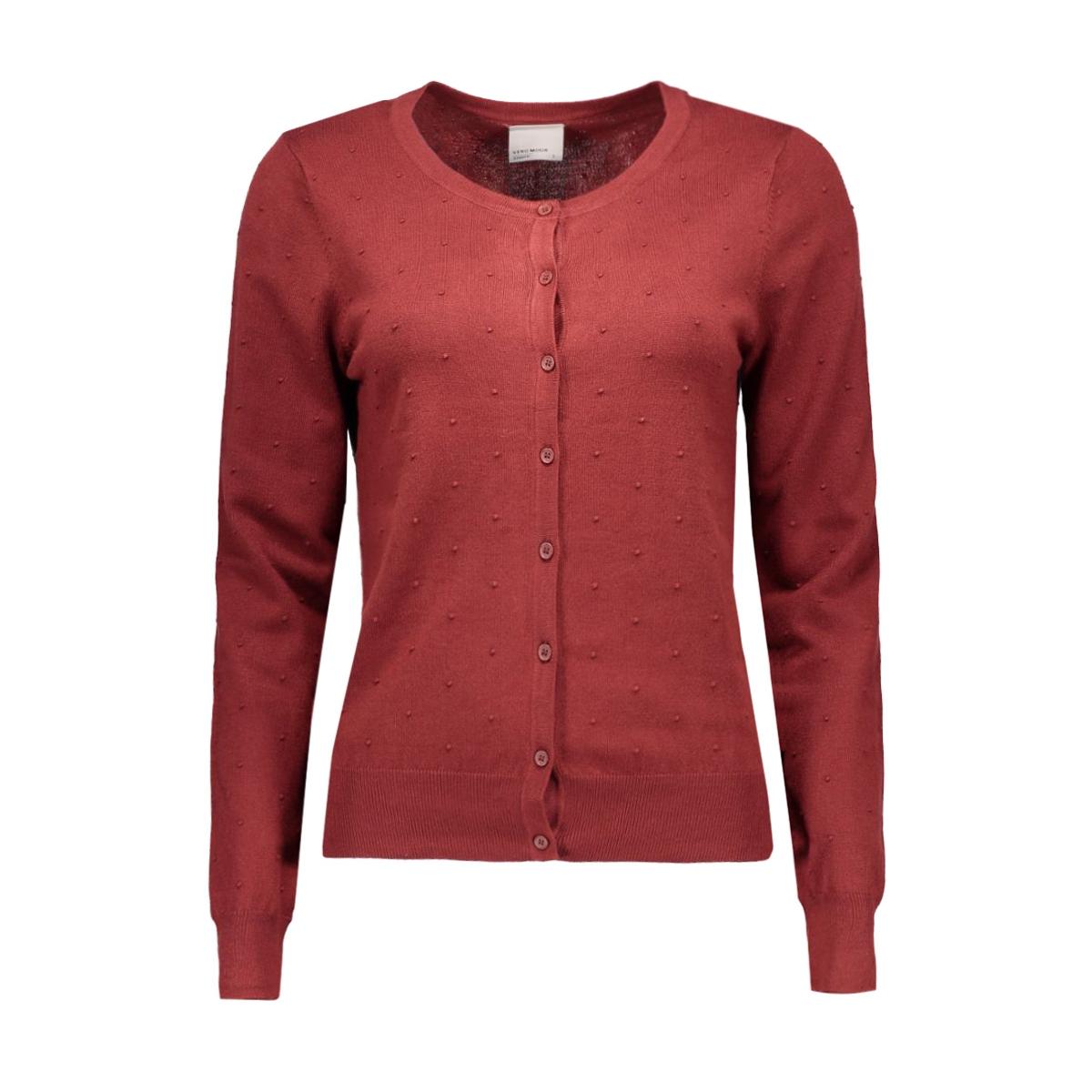 vmglory misa ls cardigan rep 10165144 vero moda vest fired brick
