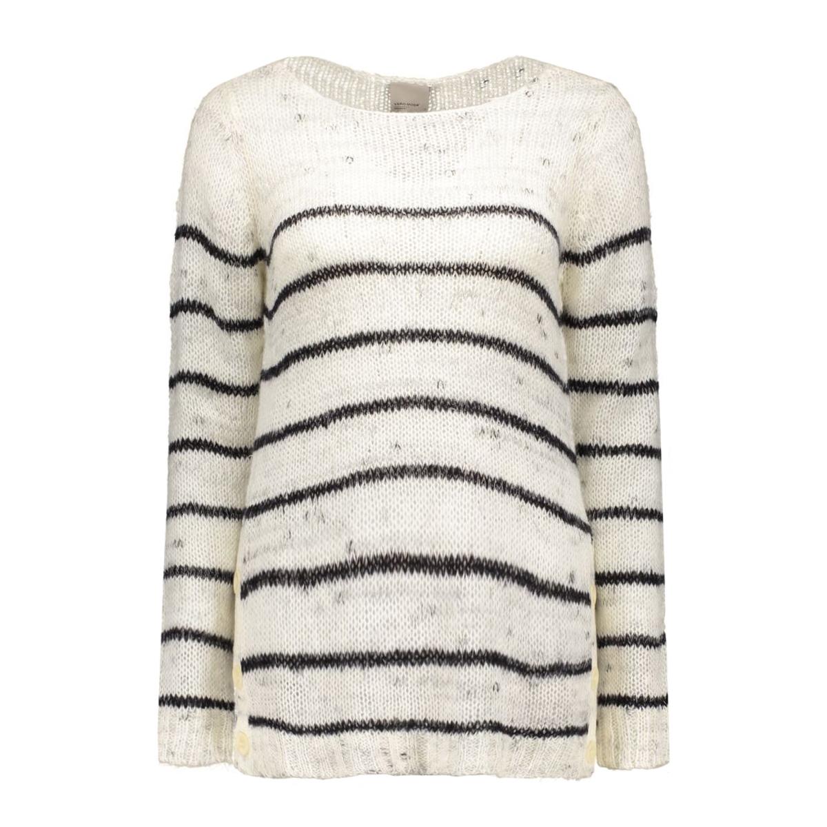 vmsarah ls blouse boo 10156498 vero moda trui moonbeam/black