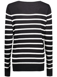 onlmila stripe l/s pullover knt noo 15110935 only trui black/cloud