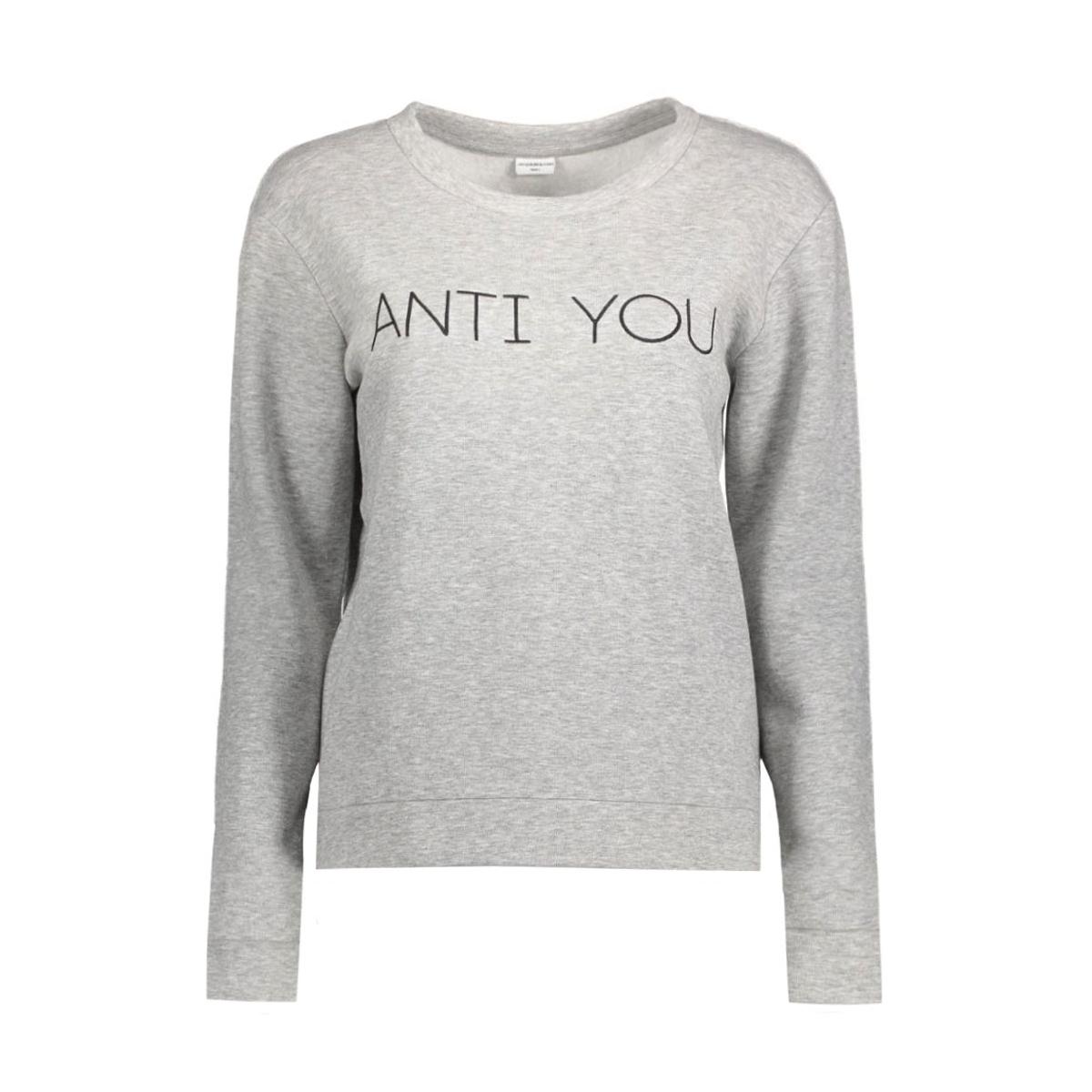 jdytori l/s sweat jrs 15120271 jacqueline de yong sweater light grey melange