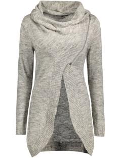 onlnew hayley l/s zip cardigan knt 15100922 only vest light grey melange