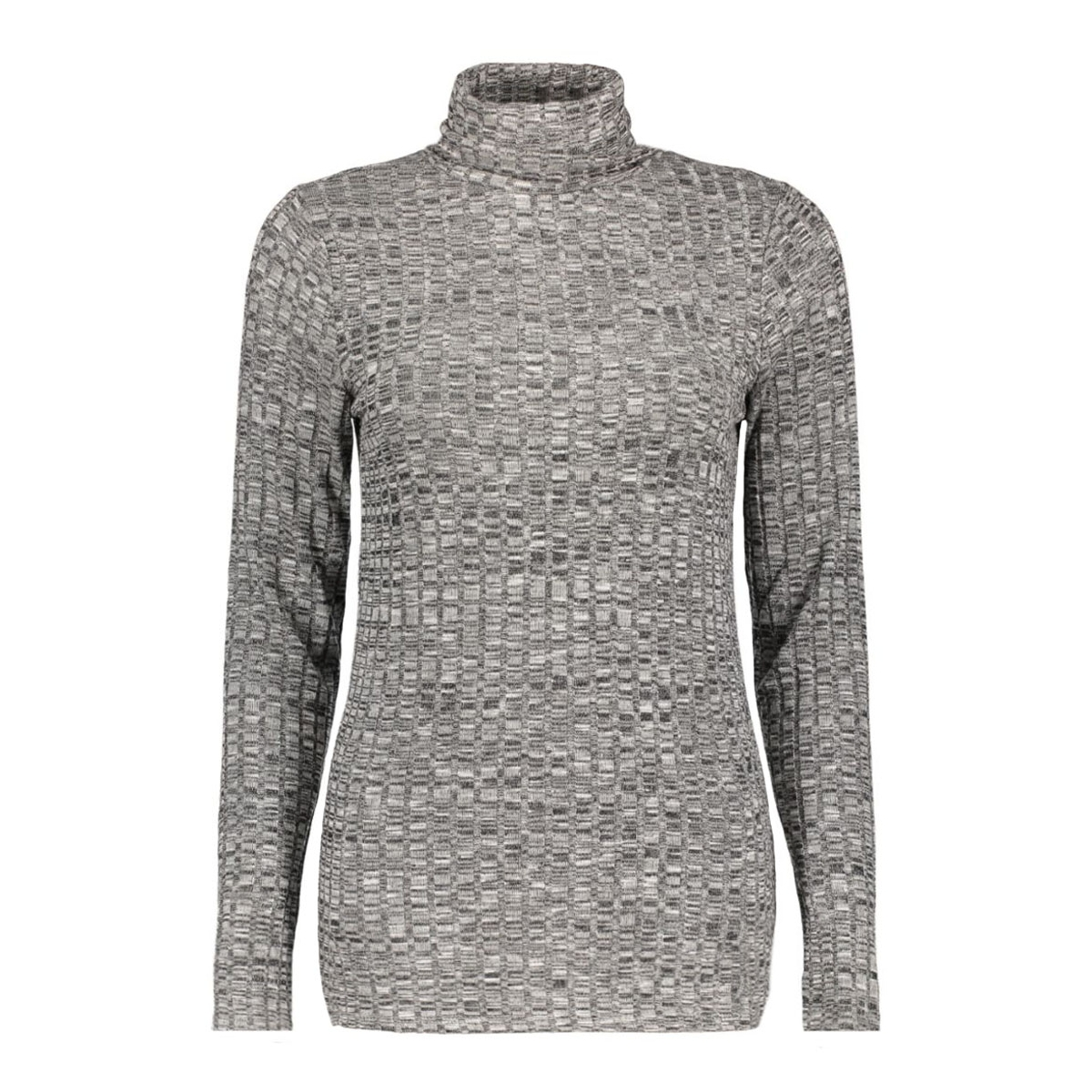 vmnille ls rollneck blouse 10162493 vero moda trui black/melange w.