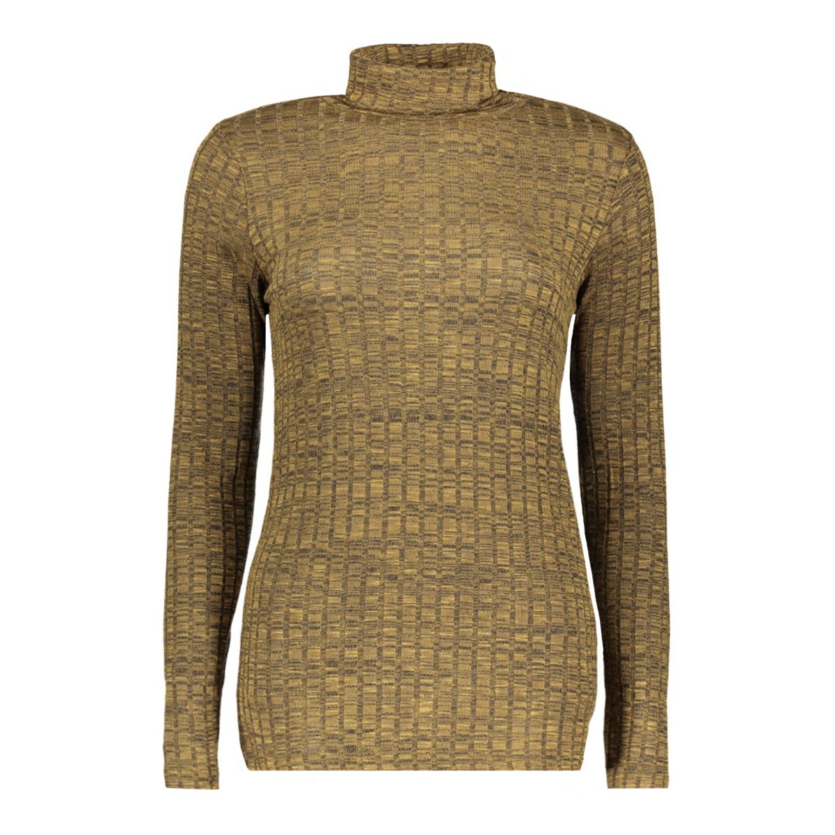 vmnille ls rollneck blouse 10162493 vero moda trui kangaroo/melange w.