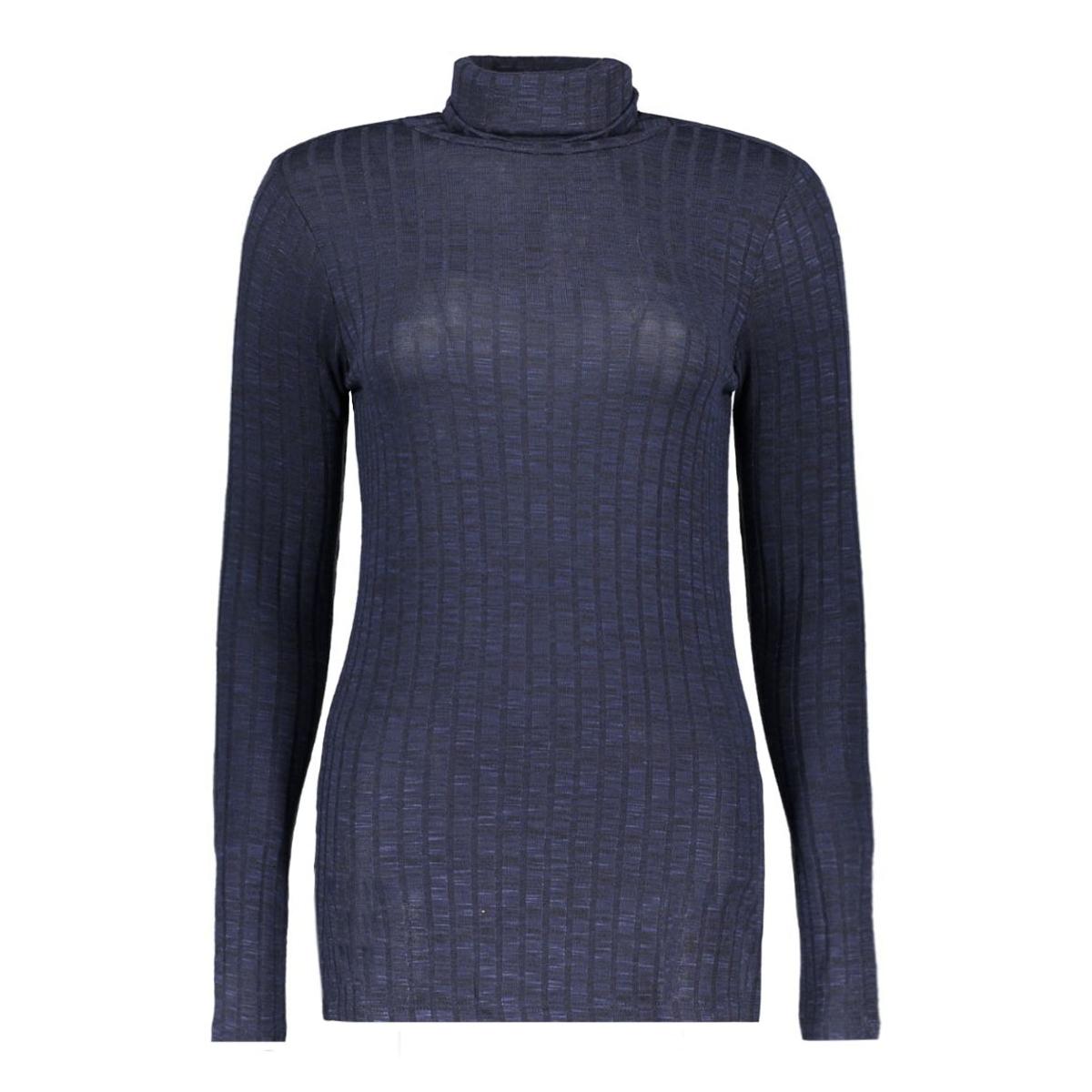 vmnille ls rollneck blouse 10162493 vero moda trui navy blazer/melange w.