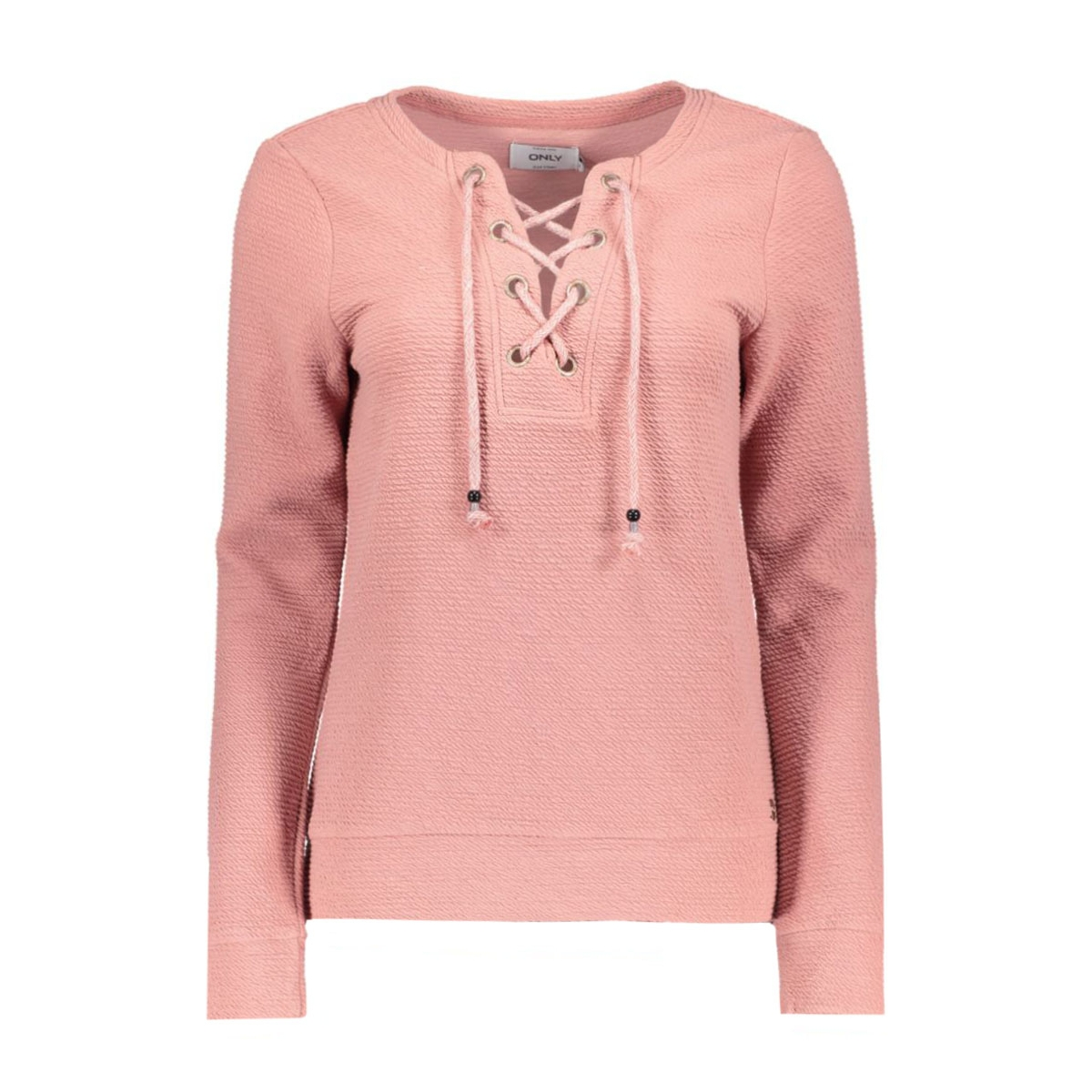 onlamy l/s o-neck lacey swt 15126771 only sweater ash rose
