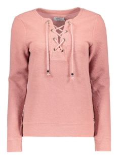 onlAMY L/S O-NECK LACEY SWT 15126771 Ash Rose