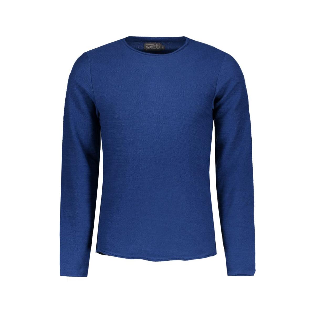 jorraw sweat crew neck 12115020 jack & jones trui estate blue