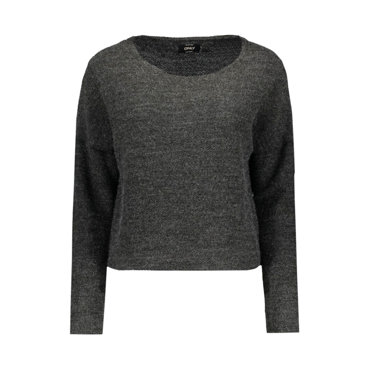 onlbrooke l/s o-neck swt 15125126 only trui dark grey melange