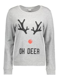 JDYPARSON L/S PRINT SWEAT 15126807 Light Grey Mela/Oh Deer