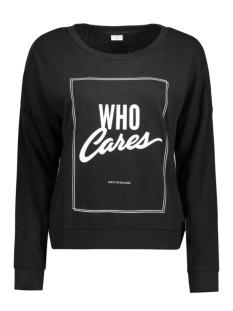 JDYCAMILLE L/S SWEAT JRS 15123193 Black.Who Cares