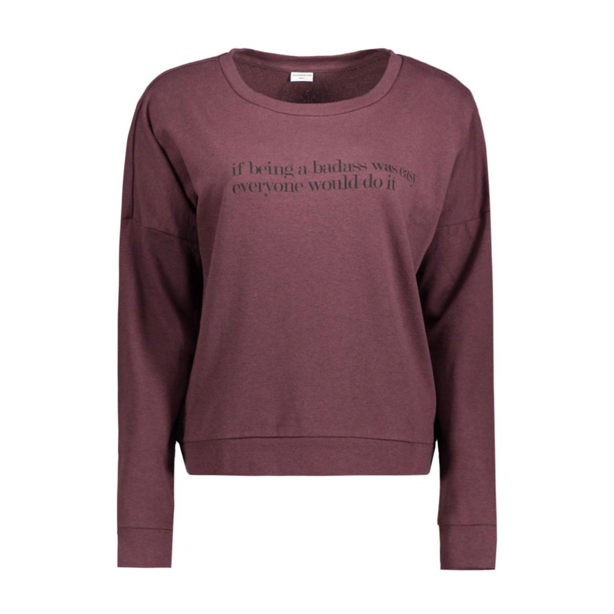 jdycamille l/s sweat jrs 15123193 jacqueline de yong sweater fudge/being