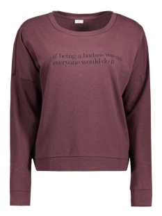 jdycamille l/s sweat jrs 15123193 jacqueline de yong sweater fudge/being