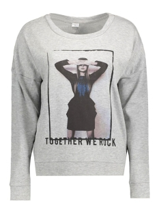 JDYCAMILLE L/S SWEAT JRS 15123193 Light Grey Mela/Together