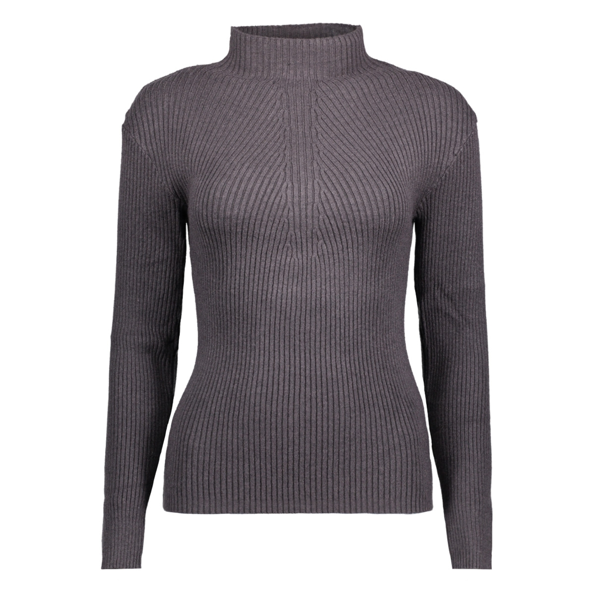 pcdesla ls knit clw 17079727 pieces trui dark grey melange