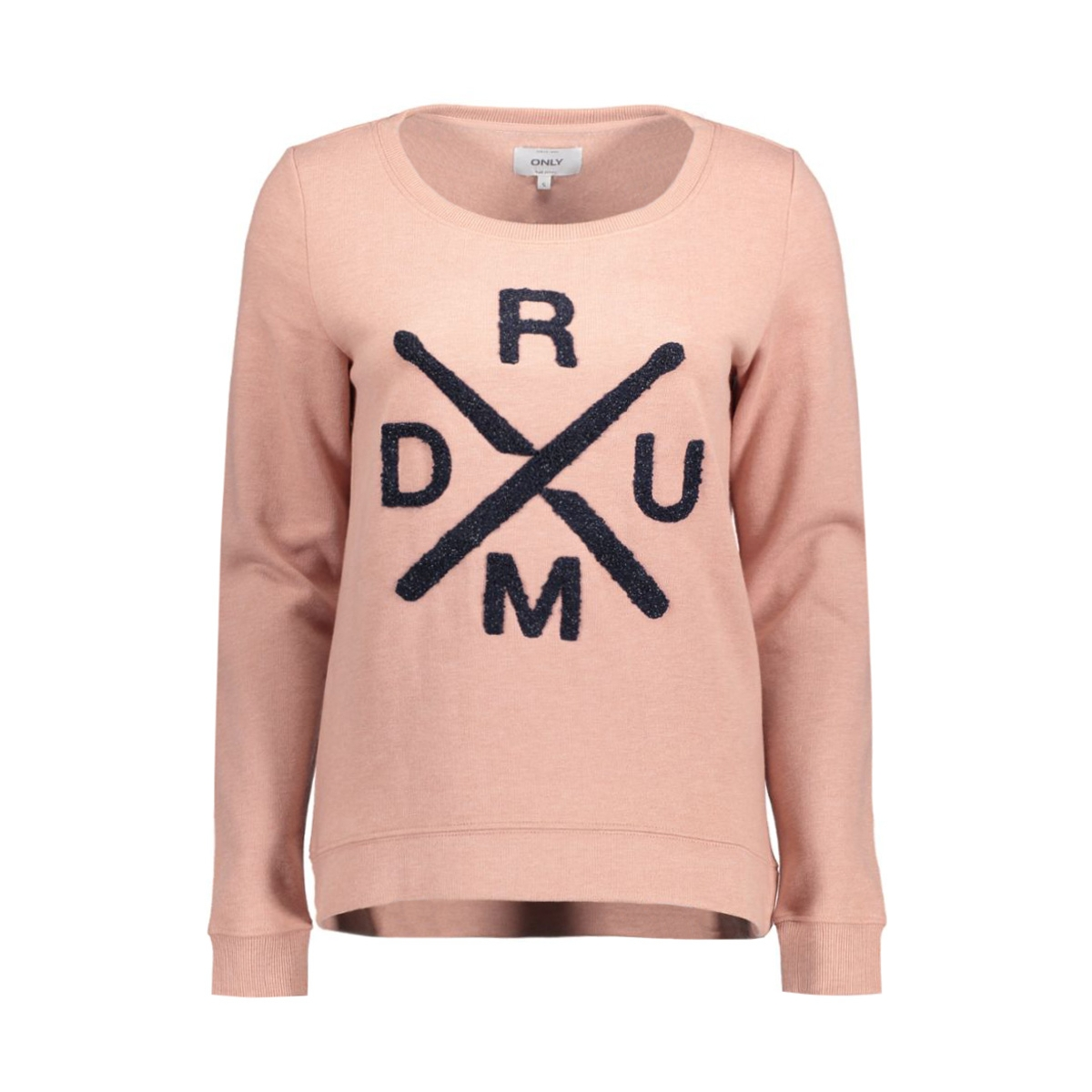 onlcille l/s oneck box swt 15126575 only sweater ash rose