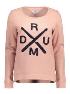 onlCILLE L/S ONECK BOX SWT 15126575 Ash Rose