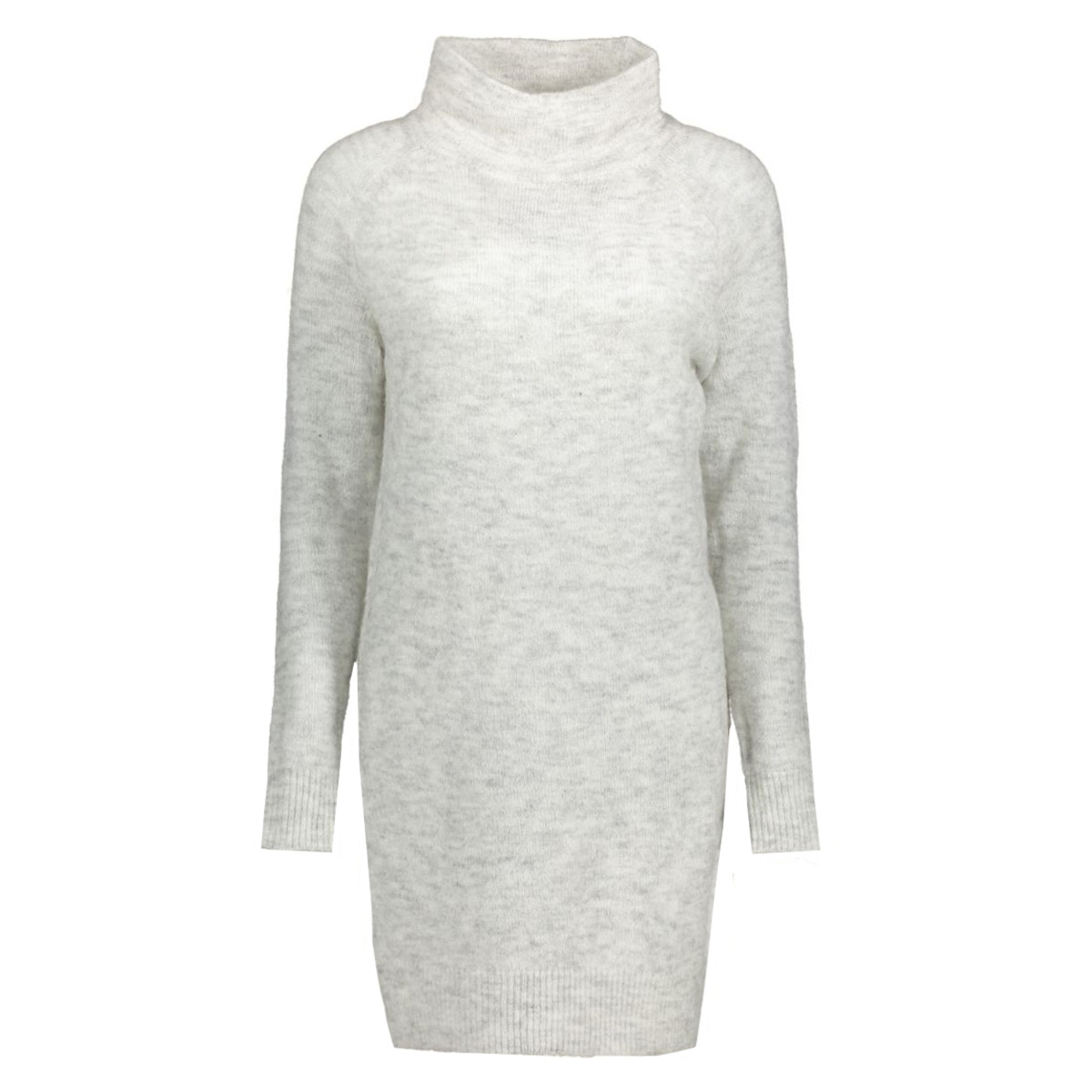 onltrust l/s highneck dress knt rp 15116634 only jurk white/melange
