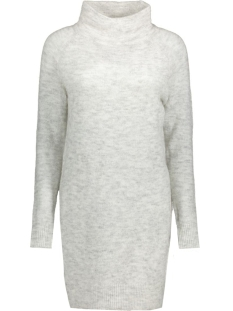 onlTRUST L/S HIGHNECK DRESS KNT RP 15116634 White/Melange