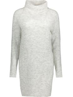 Only Jurk onlTRUST L/S HIGHNECK DRESS KNT RP 15116634 White/Melange