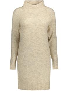 Only Jurk onlTRUST L/S HIGHNECK DRESS KNT RP 15116634 Pumice Stone/Melange