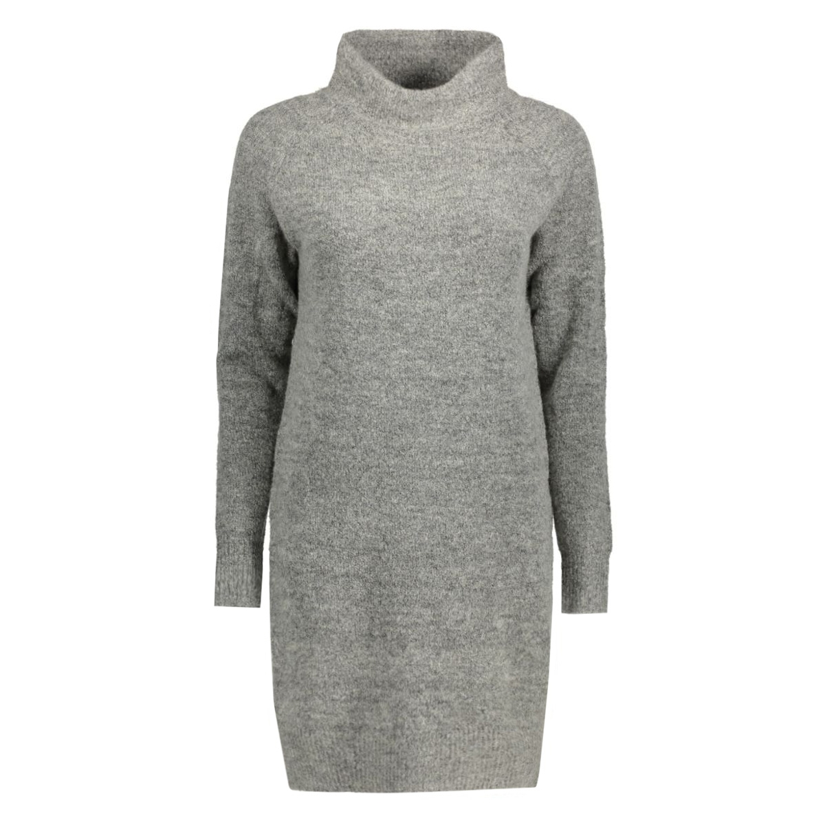 onltrust l/s highneck dress knt rp 15116634 only jurk light grey melange
