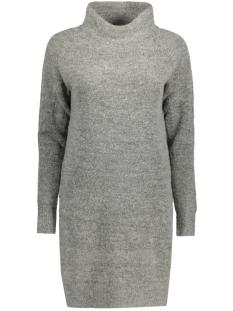 Only Jurk onlTRUST L/S HIGHNECK DRESS KNT RP 15116634 Light Grey Melange