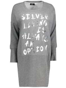 onlLANGE L/S SWEAT DRESS SWT 15126983 Dark Grey