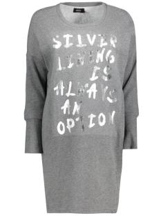 onllange l/s sweat dress swt 15126983 only jurk dark grey