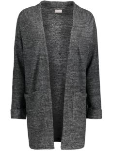 vmfallon ls pocket cardigan 10169857 vero moda vest dark grey melange