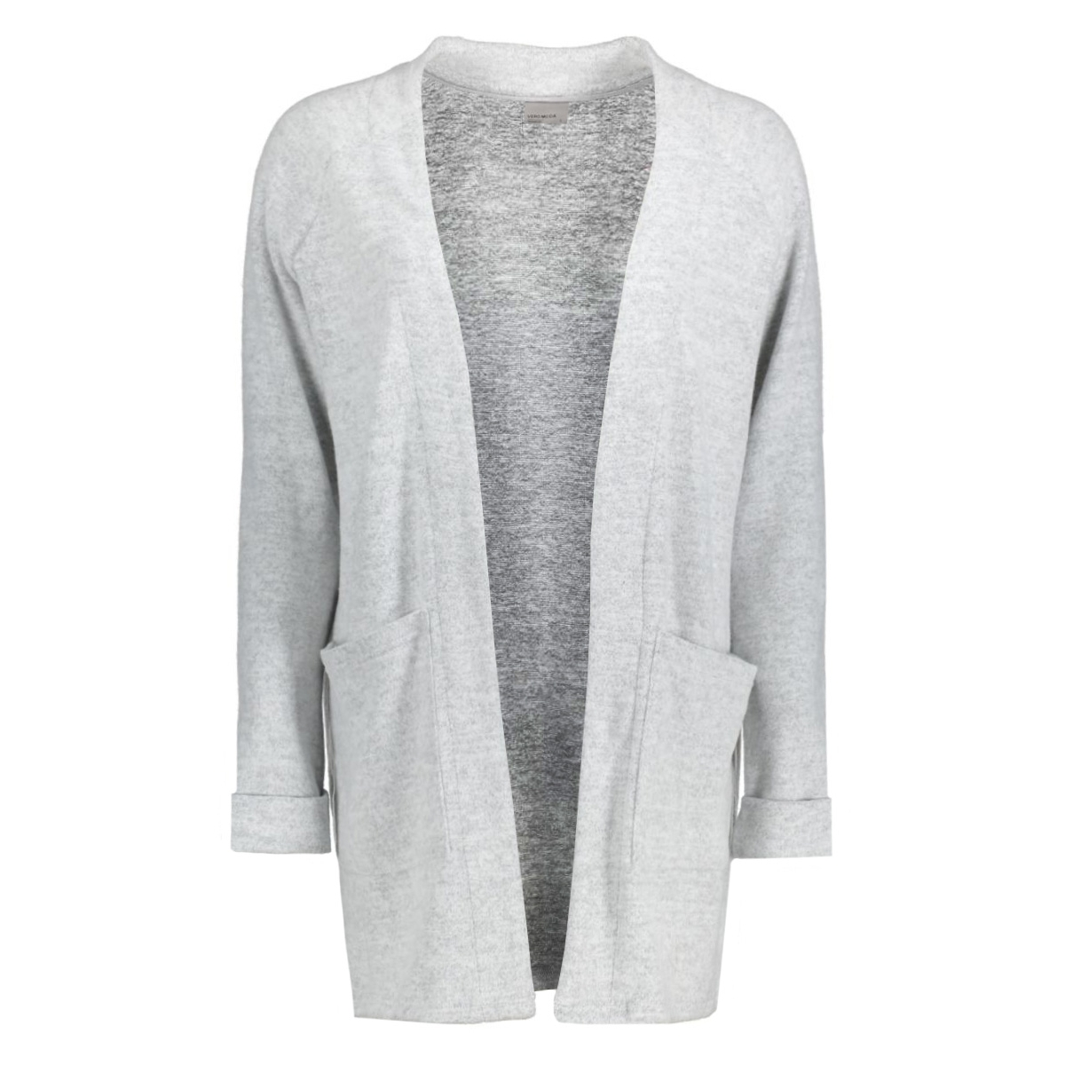 vmfallon ls pocket cardigan 10169857 vero moda vest light grey melange