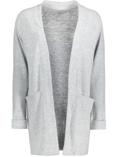 vmfallon ls pocket cardigan 10169857 vero moda vest light grey melange