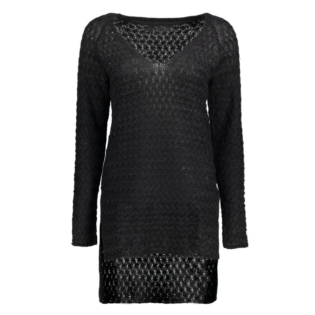onllima l/s v-neck pullover knt 15120950 only trui black