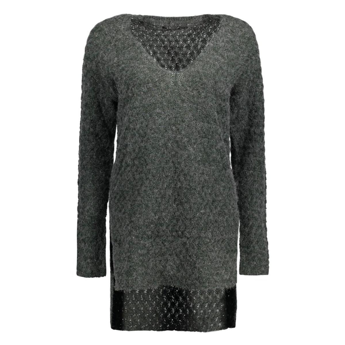 onllima l/s v-neck pullover knt 15120950 only trui scarab/black
