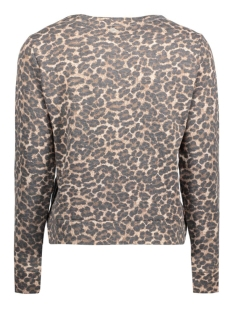 onlmonica l/s leo oneck swt 15128948 only sweater pumice stone/leopard
