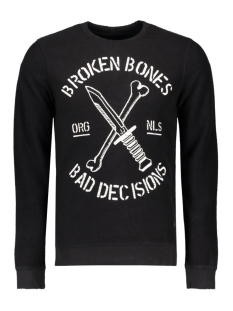 Jack & Jones Sweater JORSKULL SWEAT CREW NECK 12113166 Black