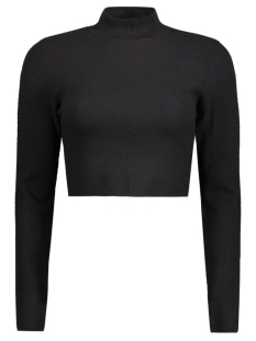 NMVALEUR L/S CROPPED HIGH NECK KNIT 10166222 Black