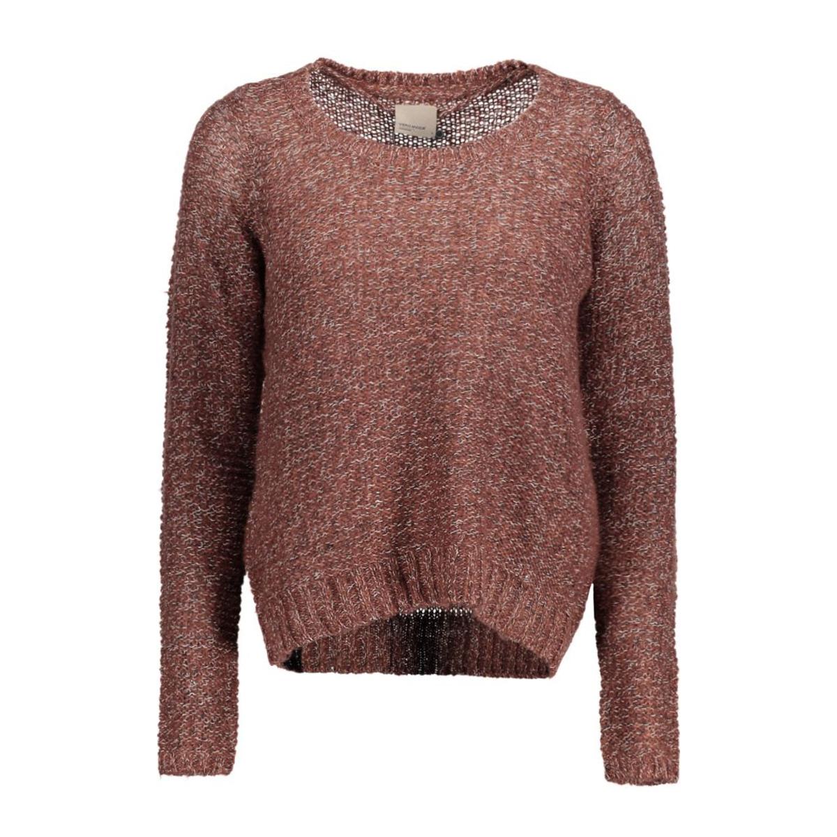 vmjive stitch ls o-neck  blouse 10167745 vero moda trui decadent chocolat
