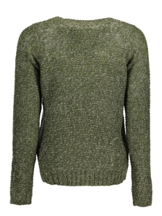 vmjive stitch ls o-neck  blouse 10167745 vero moda trui kombu green