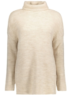 Vero Moda Trui VMJOYA MIAMI LS LONG ROLLNECK A 10157998 Moonbeam/Melange