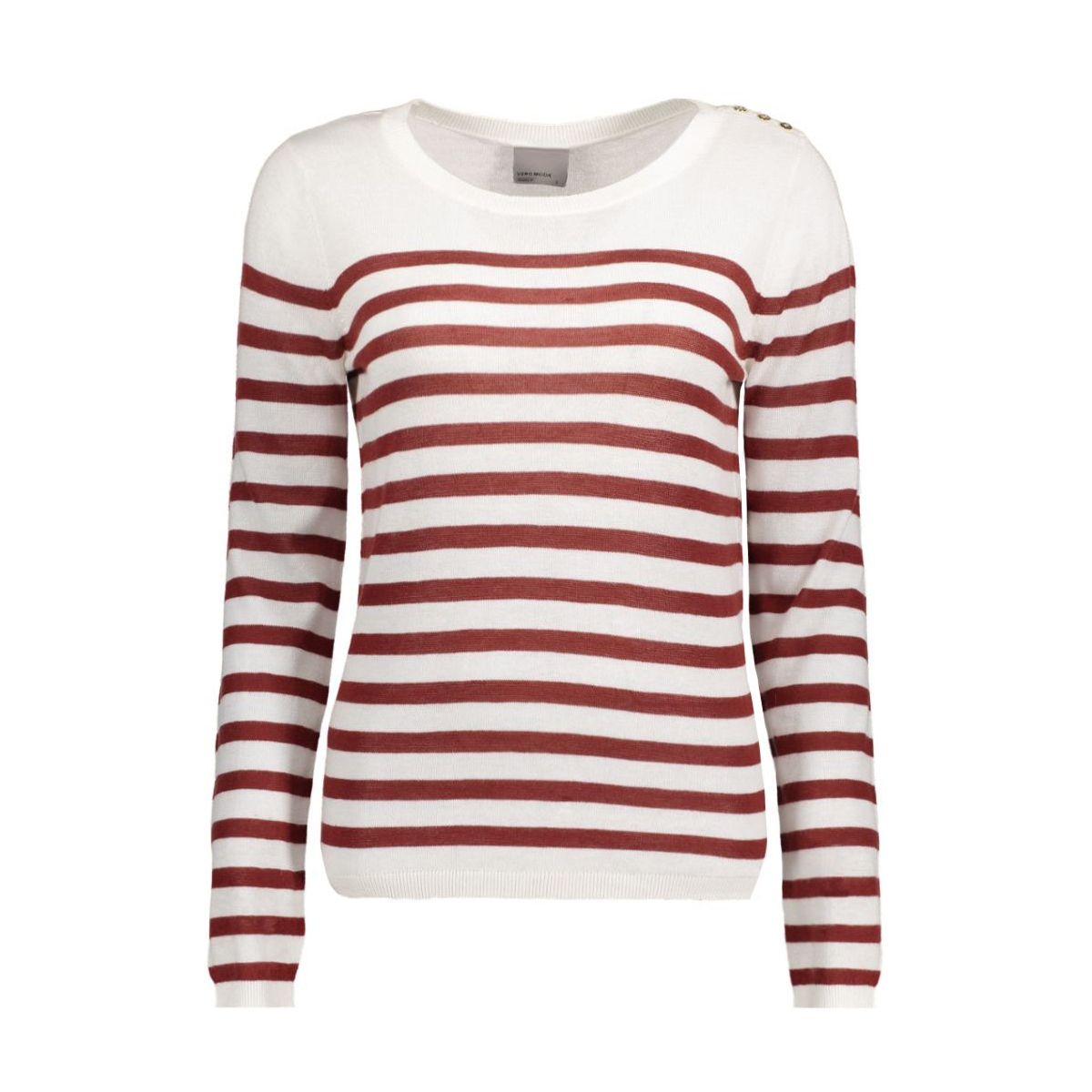 vmmemos ls button blouse local 10161497 vero moda trui snow white/ w. fired b