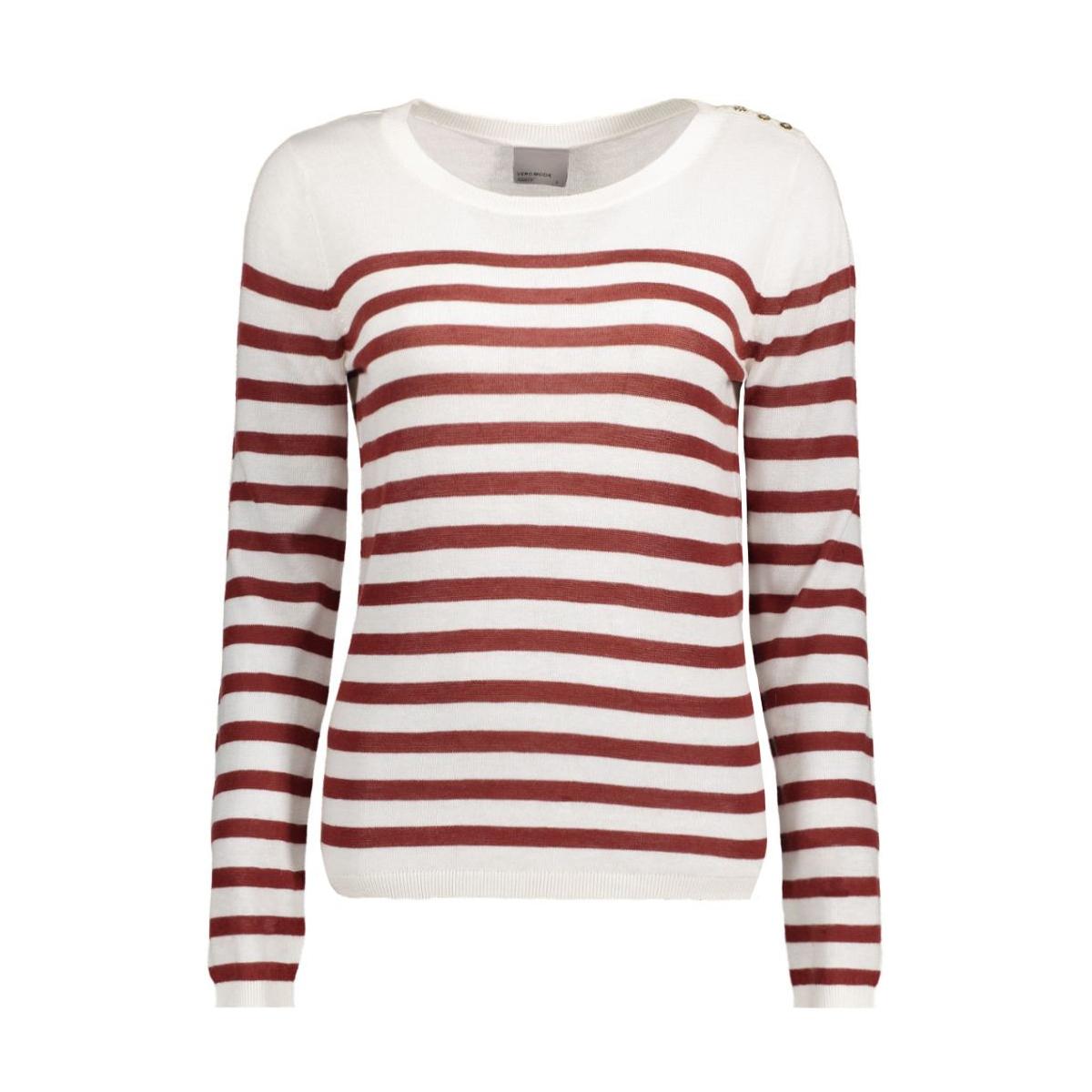 vmmemos ls button blouse local 10161497 vero moda trui snow white/ w. fired b