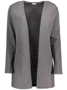 Jacqueline de Yong Vest JDYSAX L/S SWEATIGAN JRS RPT2 15126954 Dark Grey Melange